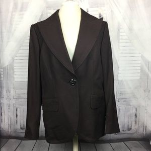 Escada Brown Blazer Jacket  & Pants Suit 44 14